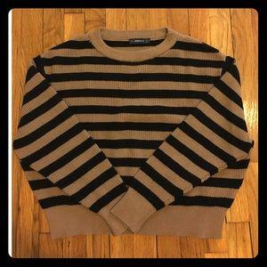 Zara striped crop sweater